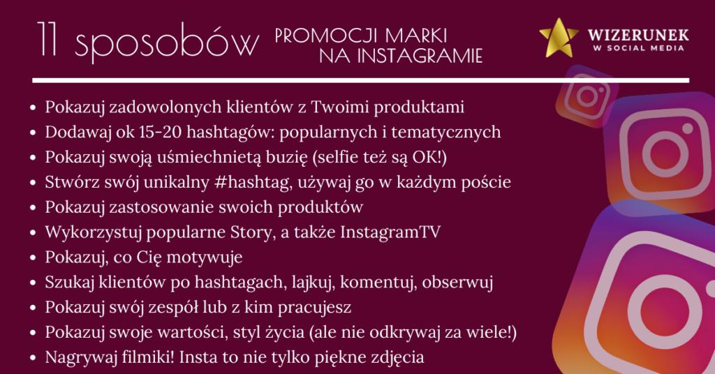 Anna-Maria Wiśniewska promocja marki na Instagramie