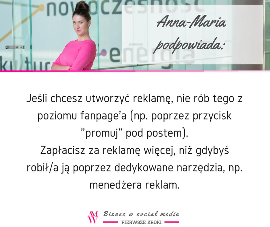 Anna-Maria podpowiada-reklamywnewsfeedzie