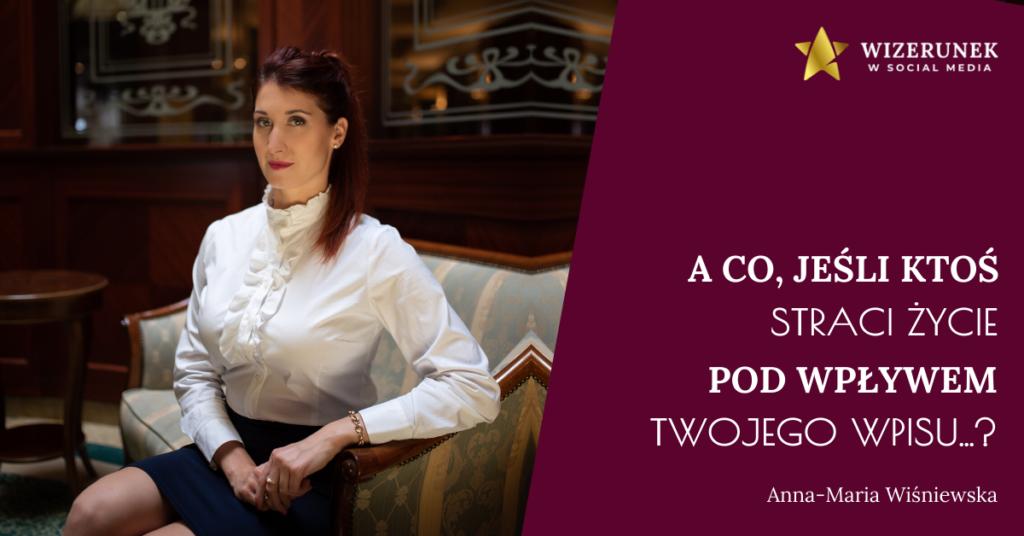 Anna-Maria Wiśniewska odpowiedzialność
