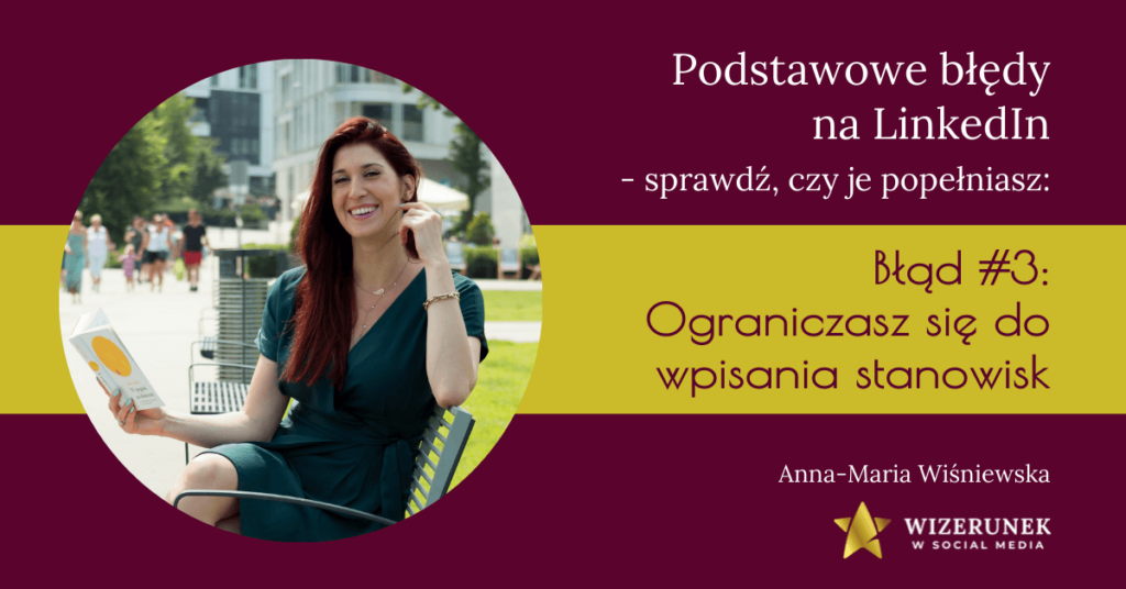 Ograniczasz się do wpisania stanowisk Anna Maria Wisniuewska