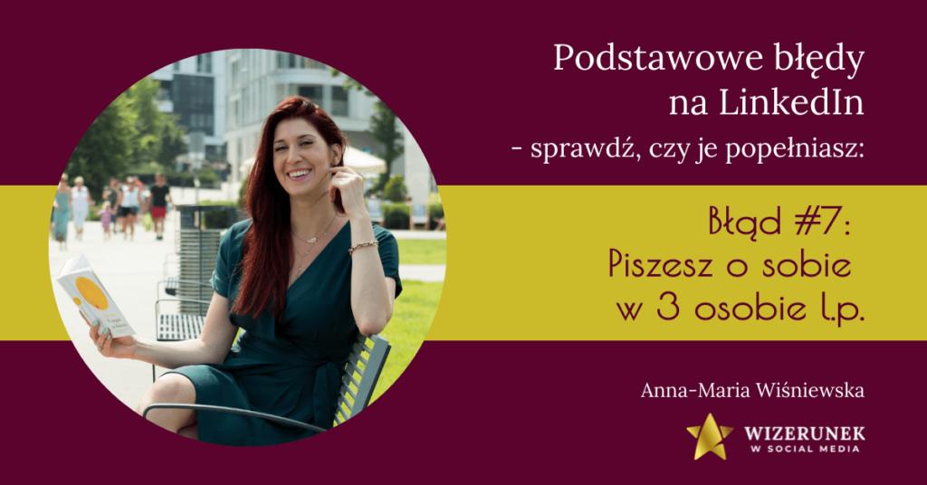 Błędy na linkedin edyfikacja anna maria wiśniewska